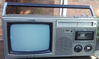 Sharp-10P-28H-Tv-Radio-Cassette-Player